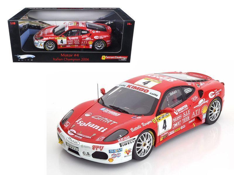 Ferrari F430 Challenge Elite Edition #4 1/18 Diecast Model Car by Hotwheels