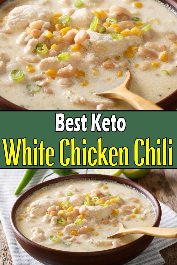 Keto White Chicken Chili (Low Carb) | Recipe in 2020 (With ...