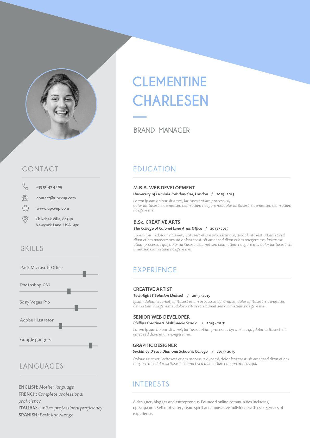 Modèles de CV modernes à télécharger format Word exemples