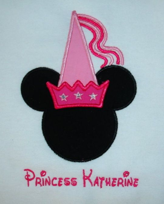 Minnie Mouse Embroidery Designs | Embroidery Princess Minnie Mouse Applique Machine Embroidery Design in ...