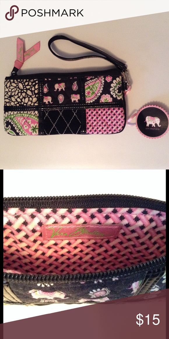 Vera Bradley Wristlet Pink elephants wristlet, never used. Free gift with purchase! Vera Bradley Bags Clutches & Wristlets
