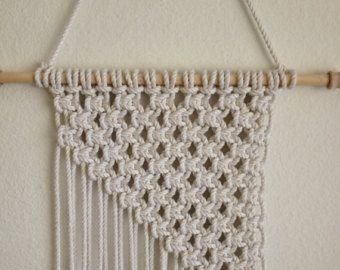 Macrame Wall Hanging Handcrafted Macrame Rope Art Macrame Home Decor