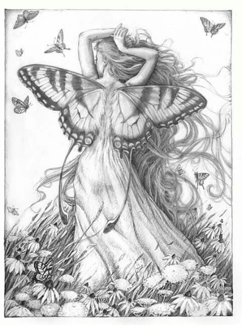 Pin by Rosemarie Sancho on Para Pintar Hadas Princesas y Sirenas ...