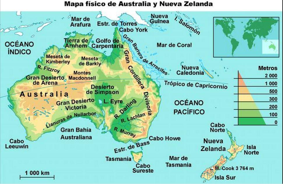 Mapa Politico Oceania Interactivo.Australia Mapa Fisico Buscar Con Google Mapa Fisico Mapas Mapas Del Mundo