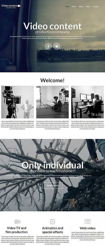 Video production website template with cms html web templates website template for video production company maxwellsz