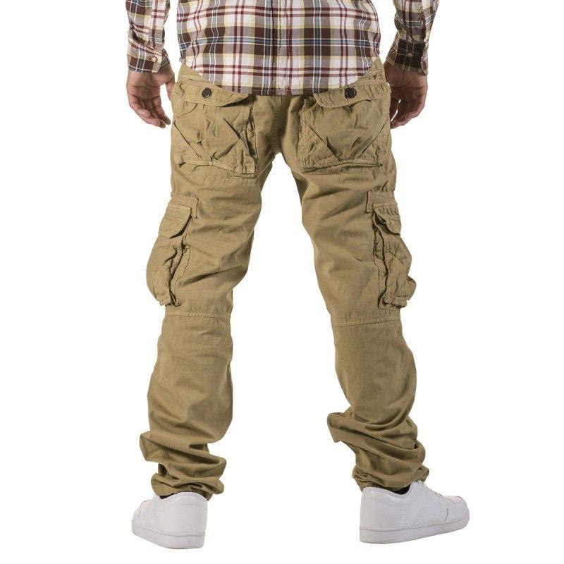 khakis jeans | Bukser » Cargo Pants » Escobar Cargo Pants Storm Khaki