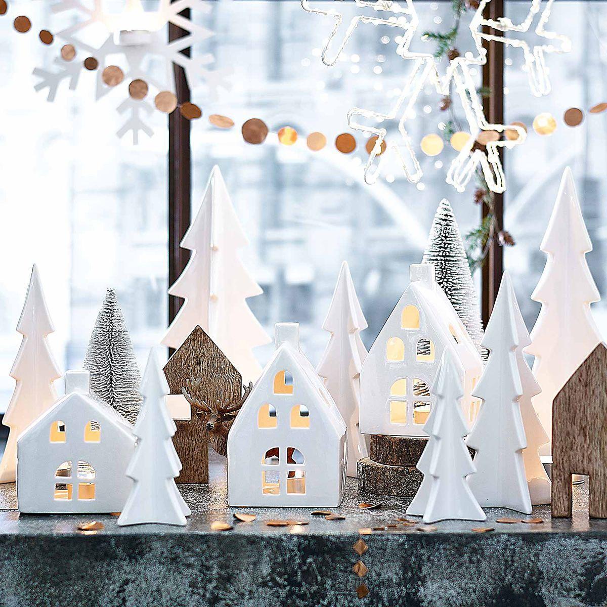 Dekoobjekt baum keramik wei ca d 7 5 x h 15 5 cm weihnachtsdeko pinterest teelichthalter - Weihnachtsdeko fensterbank ...
