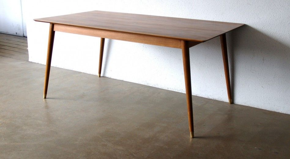 Rectangle Table With Round Tapered Legs Gorgeous Furniture Dining Room Decor Furniture