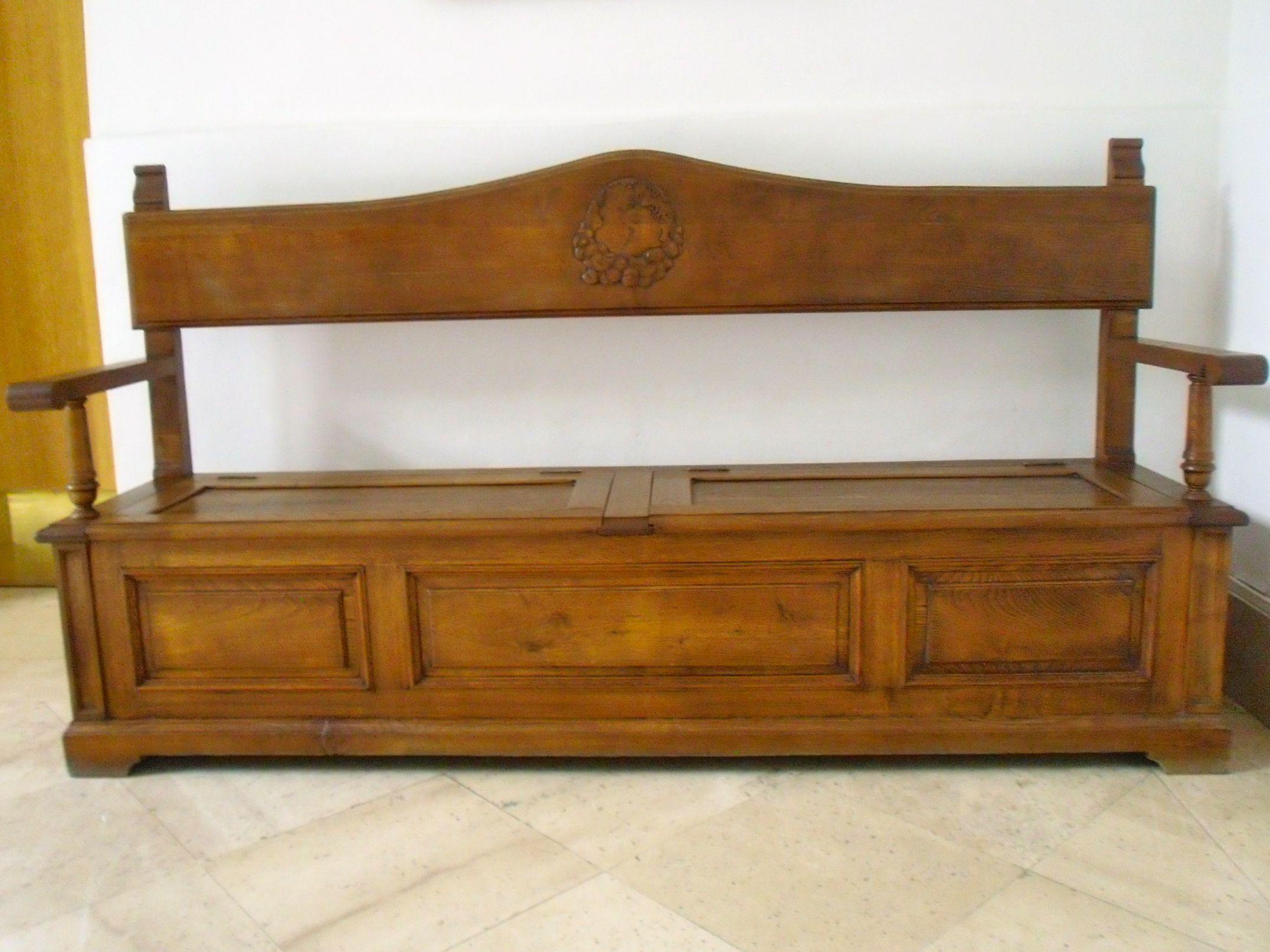 Banco Arc N De Madera De Roble Muebles Pinterest Arcones De  # Arcon Madera