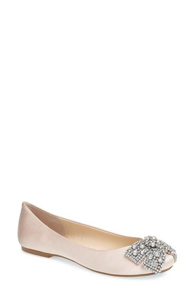 Blue by Betsey Johnson Womens Jude Nude Satin Ballet Flats