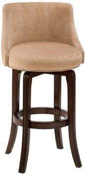 Amazon.com: Hillsdale 30-Inch Napa Valley Swivel Bar Stool - Khaki Fabric Seat: Home & Kitchen