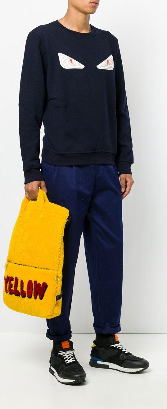 842cef6c5fe5dd FENDI Yellow backpack, explore new season Fendi on Farfetch now. Yellow  Backpack, Men's