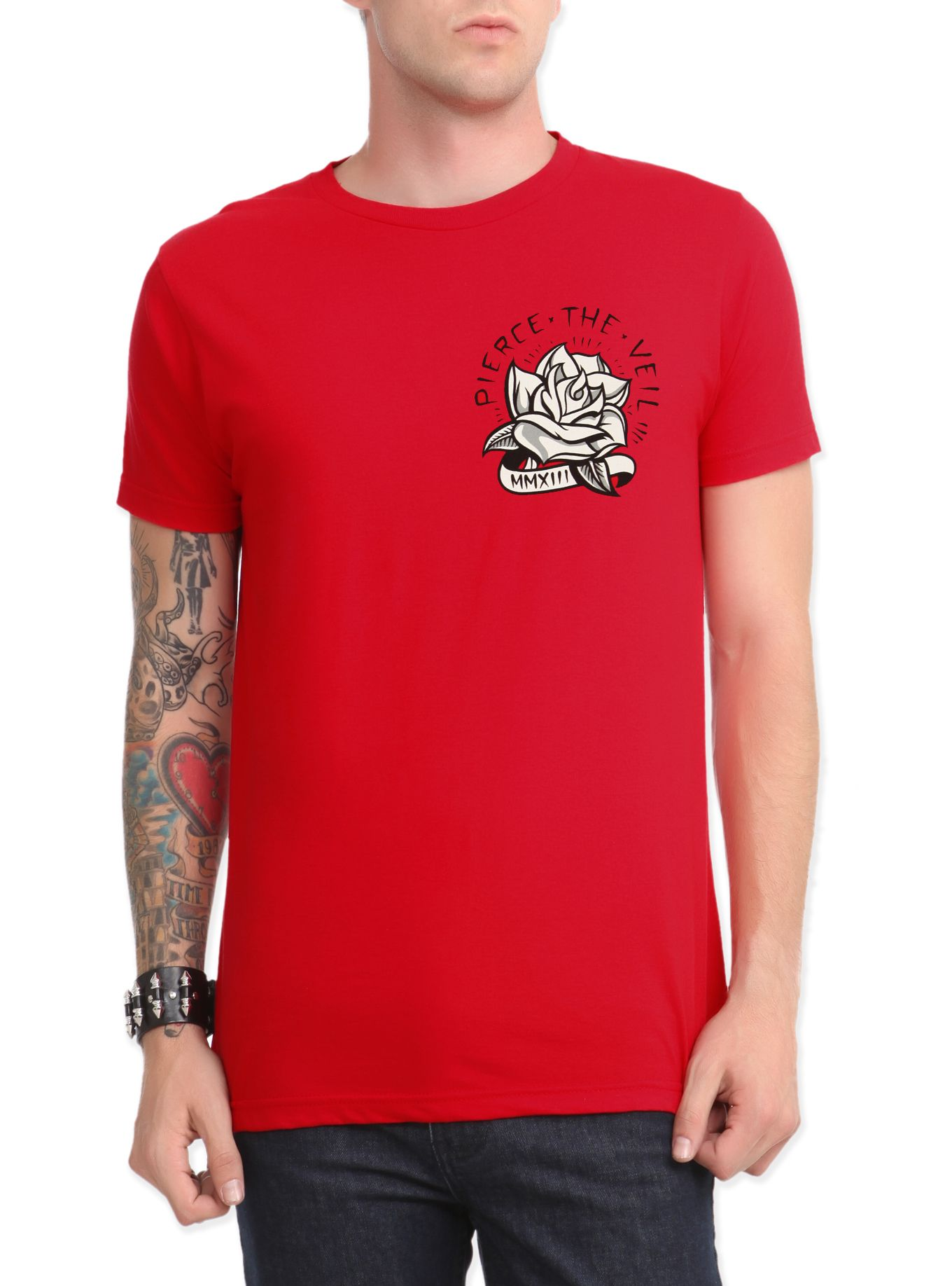 c41cfcf231b8a Red Piece The Veil T-shirt with a