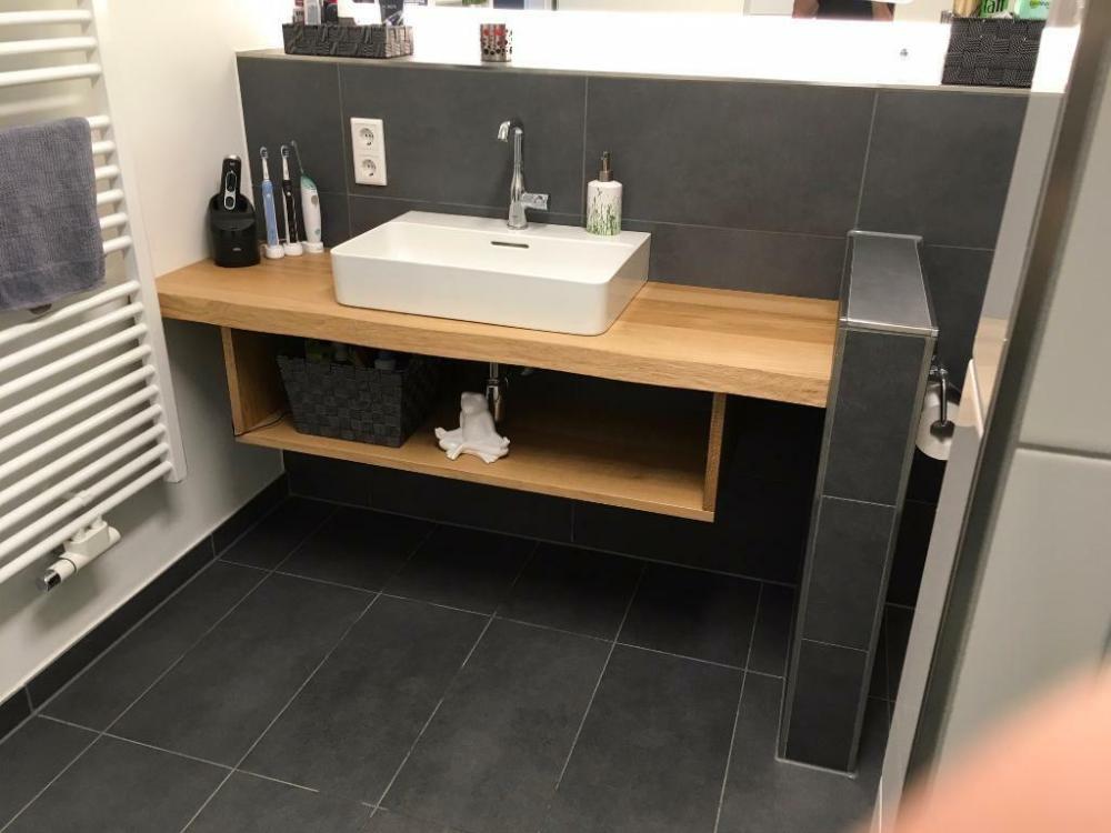 Tisch Regal Brett Aufsatzwaschbecken Massiv Holz Eiche Konsole In Baden Wurttemberg In 2020 Waschtischplatte Waschtisch Holz Aufsatzwaschbecken Waschtisch Holz Selber