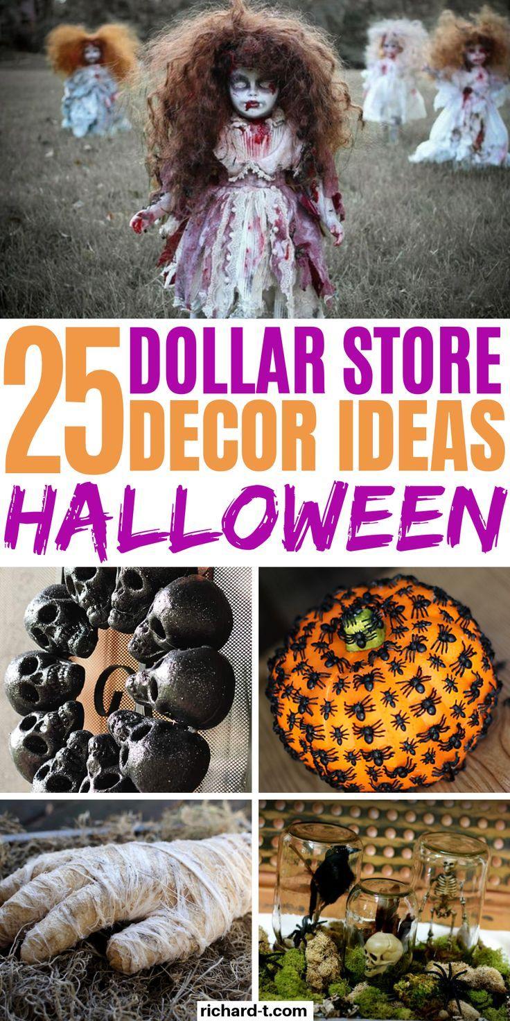 25 Dollar Store Halloween Decor DIY Ideas That Are Spooky
