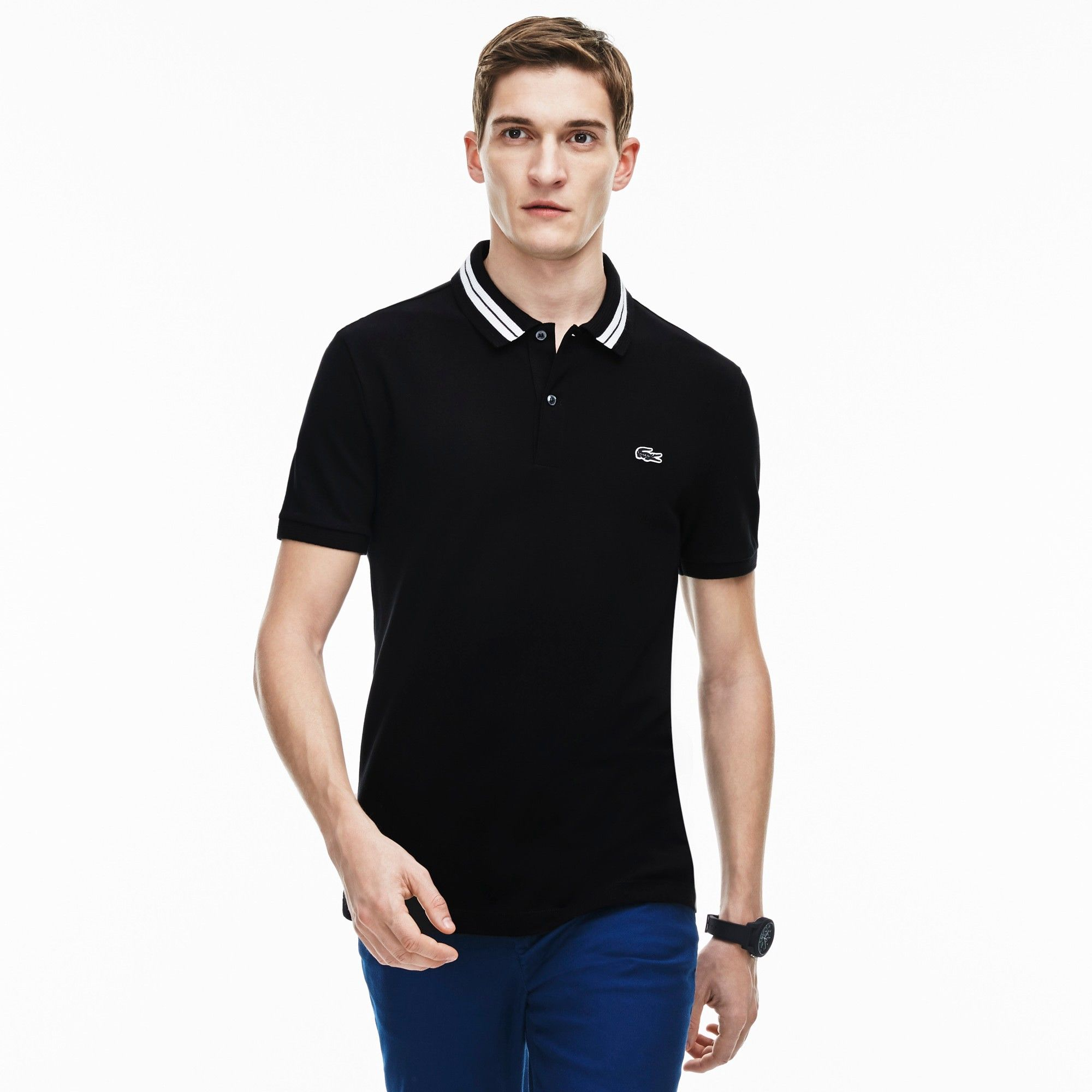 9925d15c LACOSTE Men's Lacoste slim fit polo in stretch pima cotton with ...