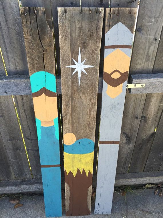 Vintage Rustic Nativity Set made from Repurposed Pallet ...