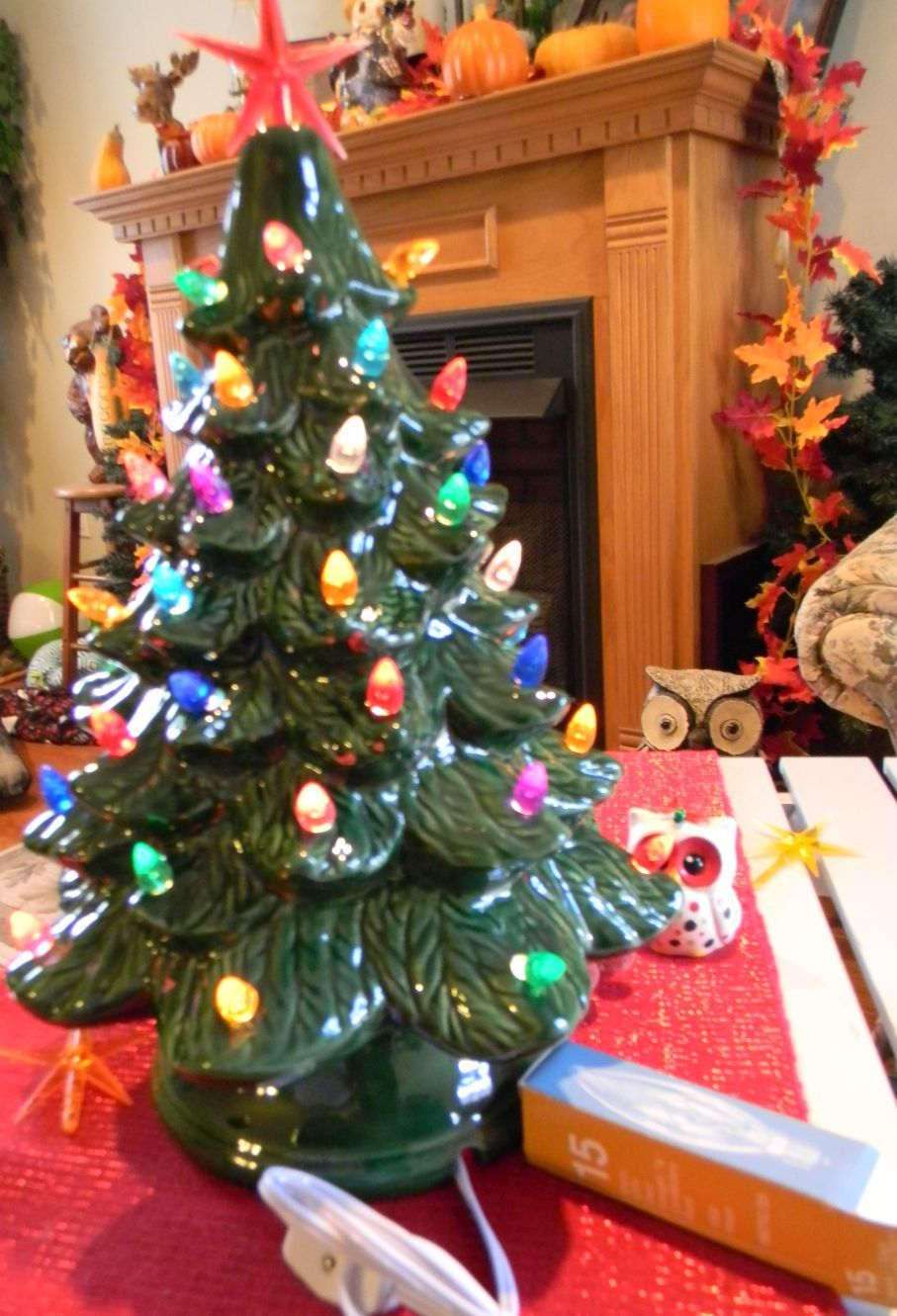 Reserved for Pat Ceramic Lighted Old Fashioned Christmas Tree 15 ...