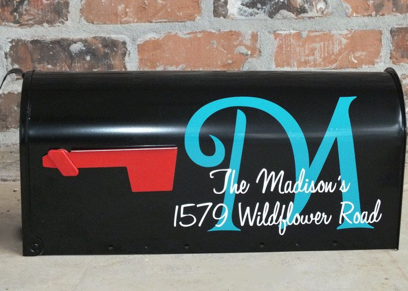 Custom Two Color Personalized Mailbox Address Vinyl Decals - Custom vinyl decals numbers