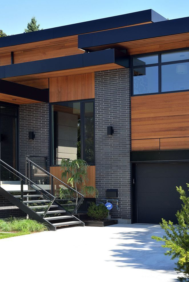 49 Most Popular Modern Dream House Exterior Design Ideas 3: Staining Brick For A Contemporary Exterior With A Angular And Bisson Ranch By Upside Development