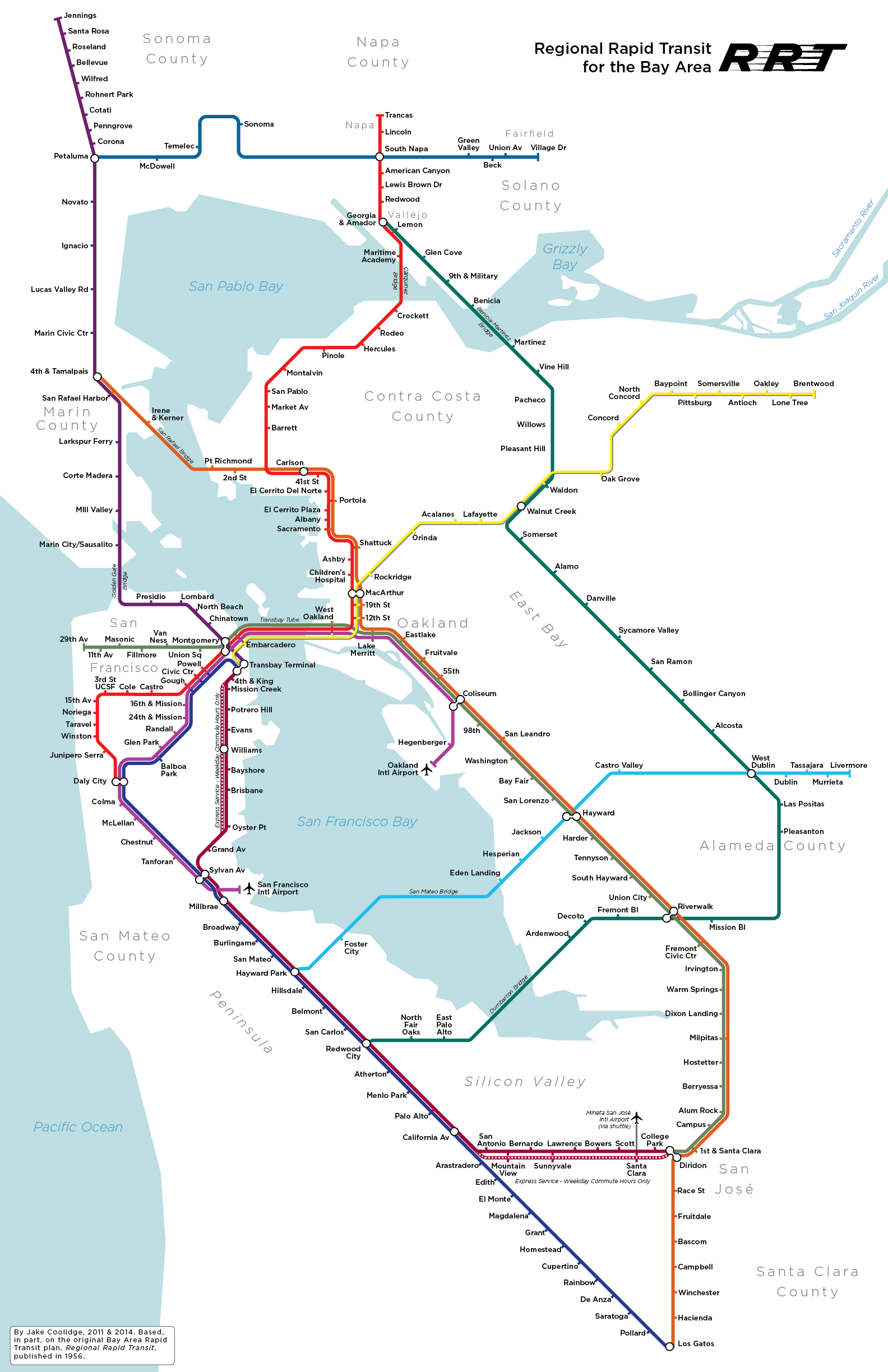 Jake Coolidge Cartography Bay Area Rapid Transit Bart Map San Francisco Subway When trying something new and out of your comfort zone, two major. pinterest