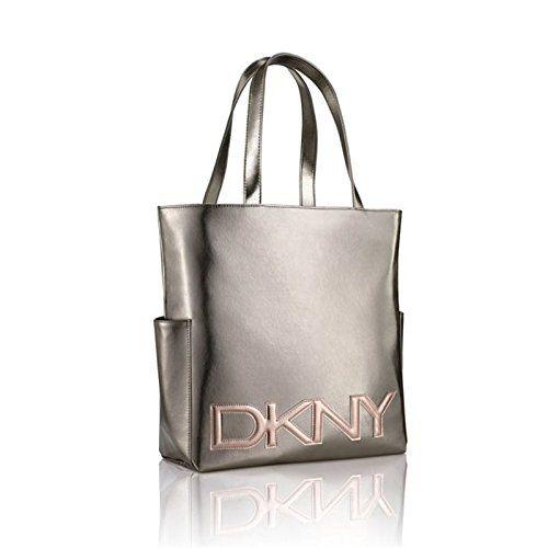 DKNY METALLIC LADIES LARGE TOTE / HANDBAG / SHOPPER BAG WITH ROSE ...