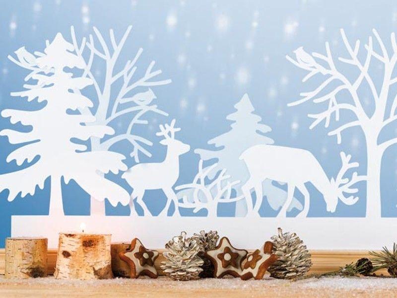 Bastelideen fensterbilder zu weihnachten xmas winter for Scherenschnitt weihnachten vorlagen kostenlos