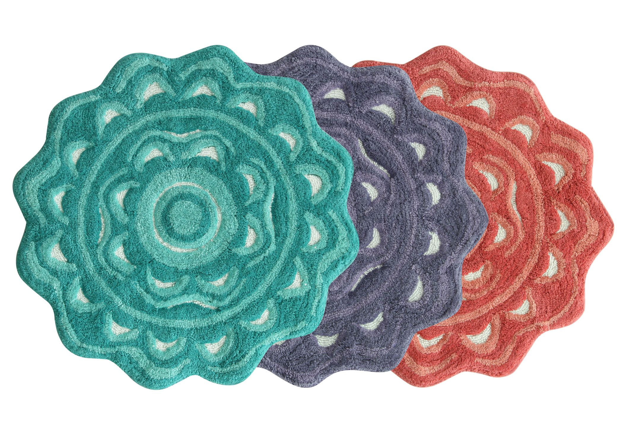 Bath mats from the Jessica Simpson Bath Collection