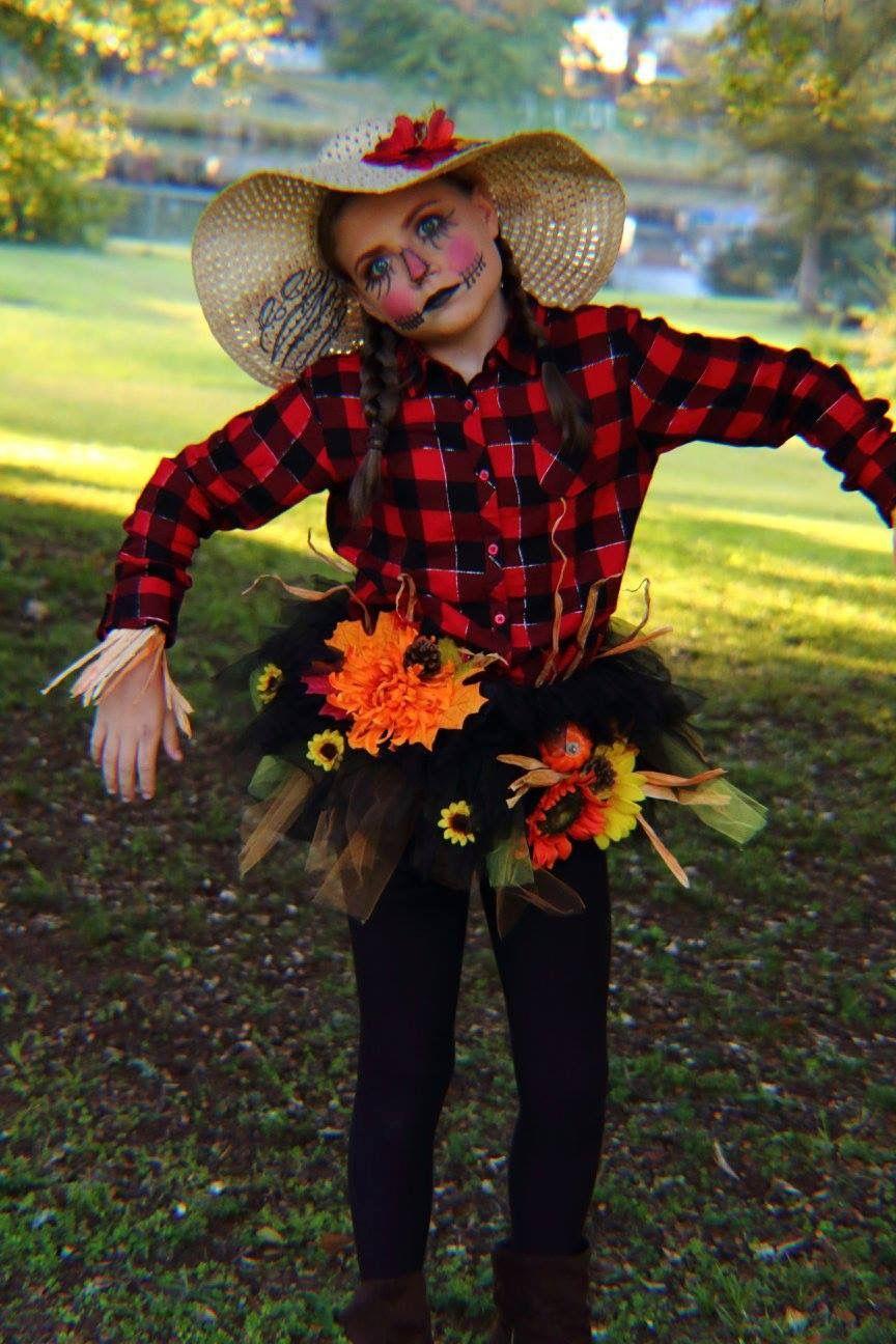 Diy Halloween Scarecrow Girls costume Diy halloween