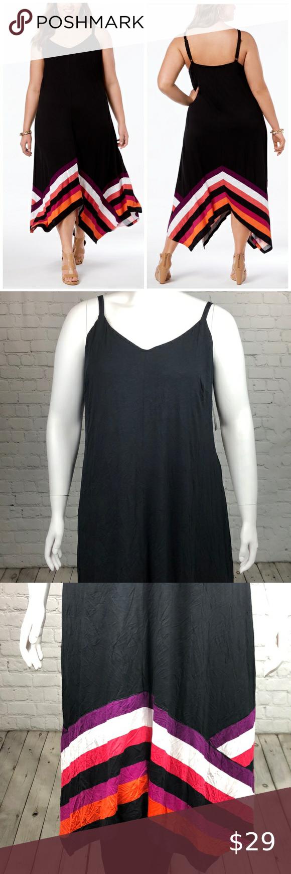 2x 3x Handkerchief Hem Maxi Dress Plus Size Fashion Clothes Design Plus Size Maxi Dresses [ 1740 x 580 Pixel ]
