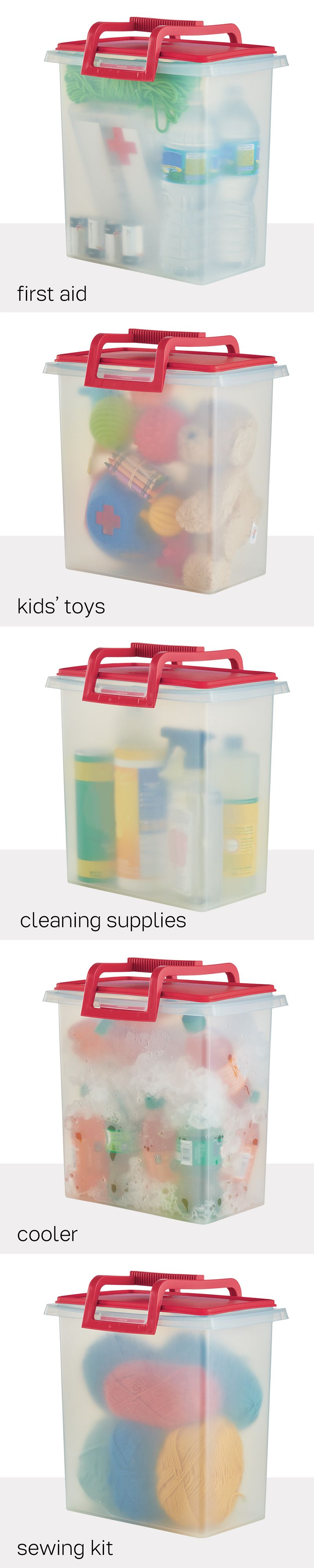 Large Carry All With Handle Tote And Store Toys Cleaning Supplies Pet Food Cold Drinks And Tupperware Consultant Tupperware Recipes Tupperware Organizing