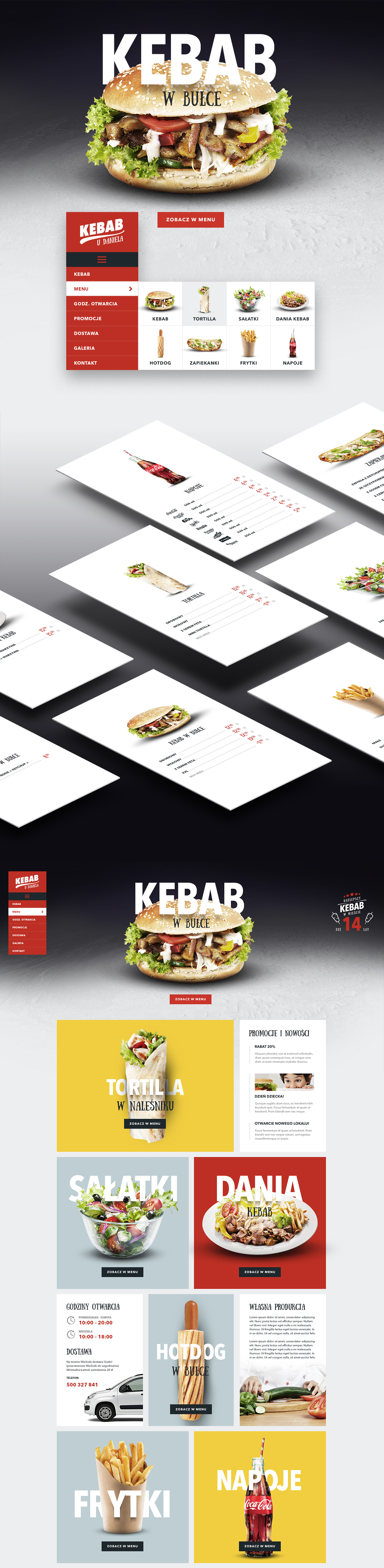 Kebab In Wieliczka On Behance Restaurant Website Design Menu Design Restaurant Flyer