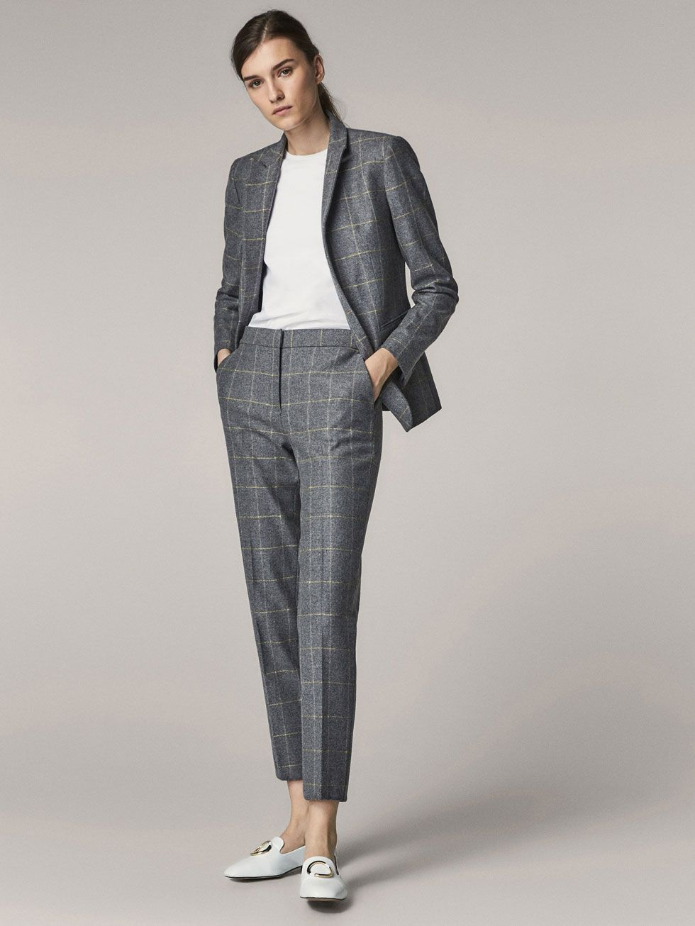 2bbe40ba Fall Winter 2017 Women´s SLIM FIT CHECKED WOOL SUIT TROUSERS at Massimo  Dutti for 120. Effortless elegance!