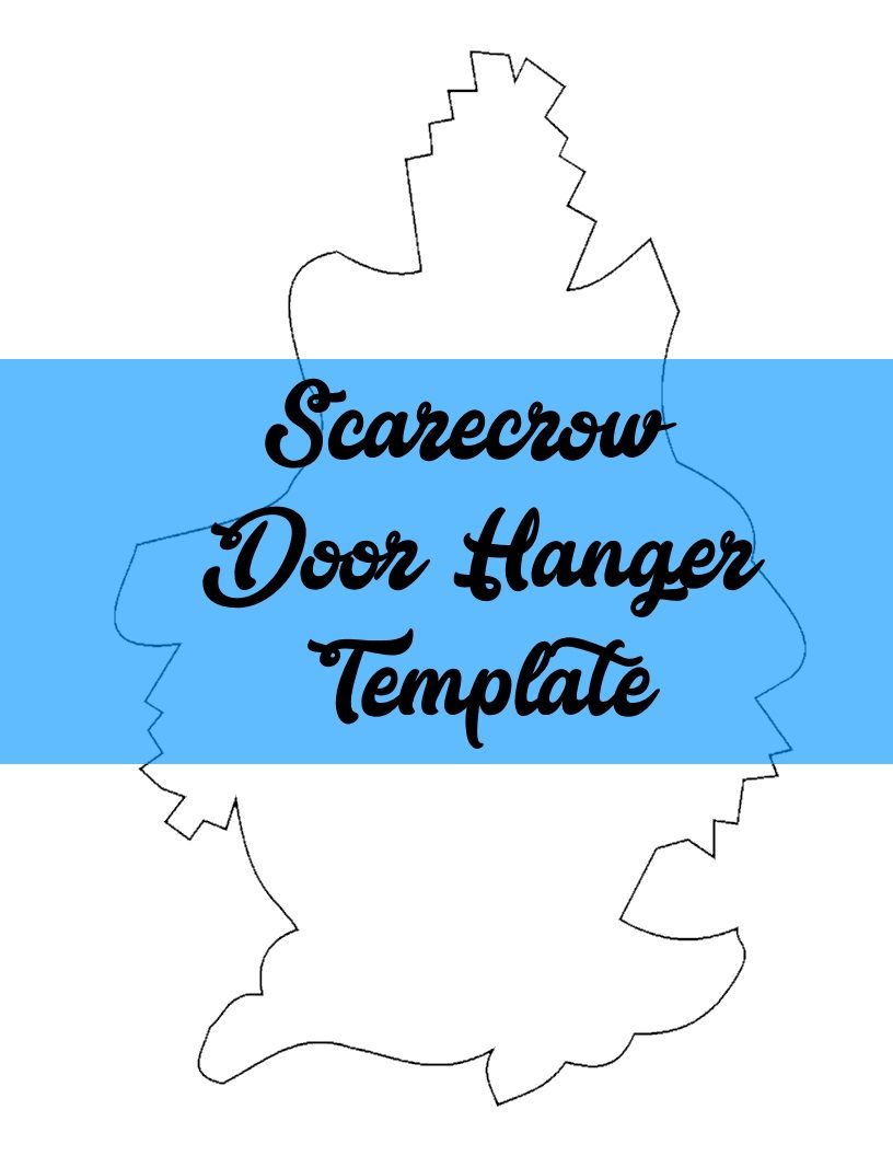 Scarecrow Door Hanger TEMPLATE | Door Hanger Templates | Pinterest ...