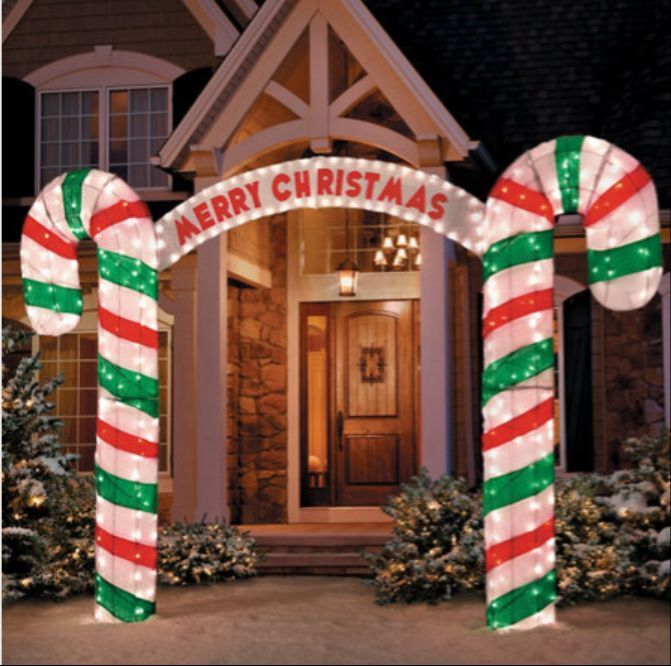 What S Included Merry Christmas Candy Cane Archway Improved Stabilizers And Christmas Yard Decorations Candy Christmas Decorations Fun Christmas Decorations