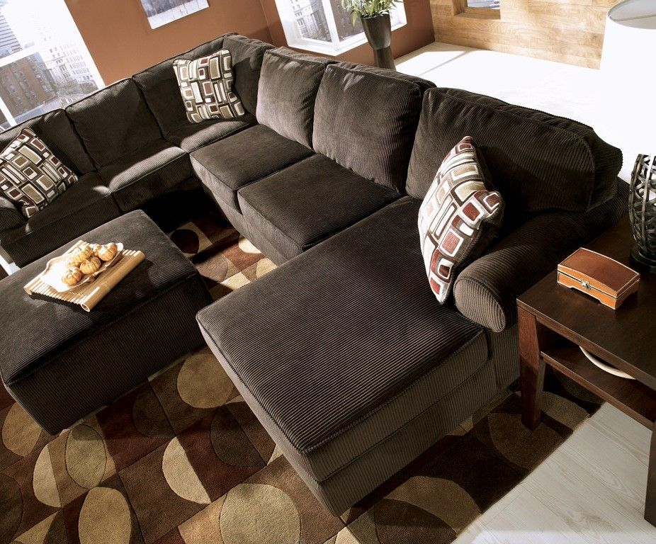 Ashley Vista Sectional Reviews Furniture Chocolate 68404 66 17 34