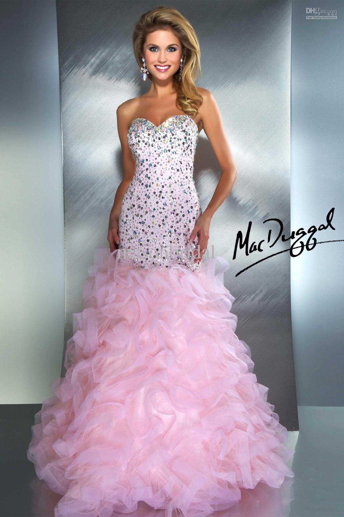 Glittery starburst mermaid sweetheart floor length spark crystal
