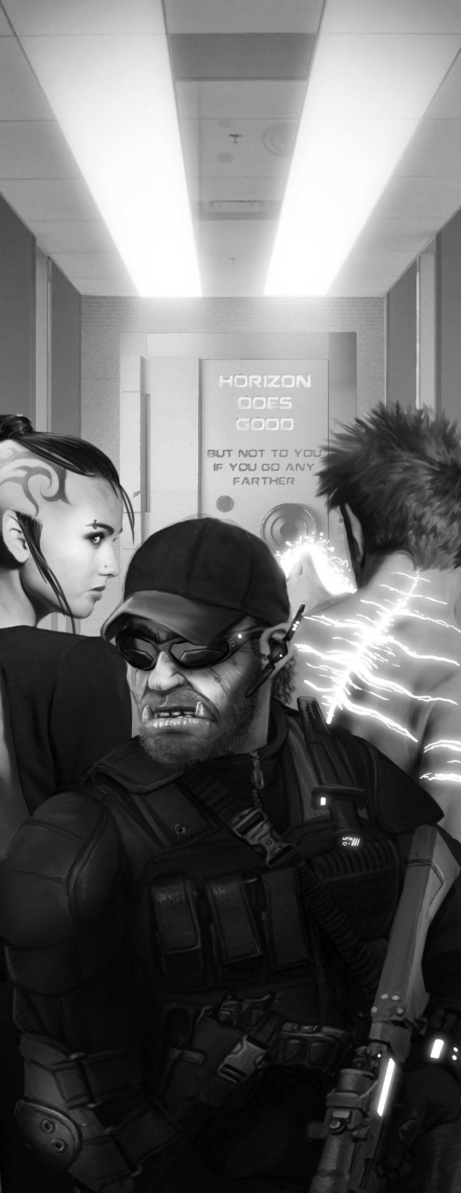 Shadowrun Horizon Artwork by Andreas Schroth. Portrait of