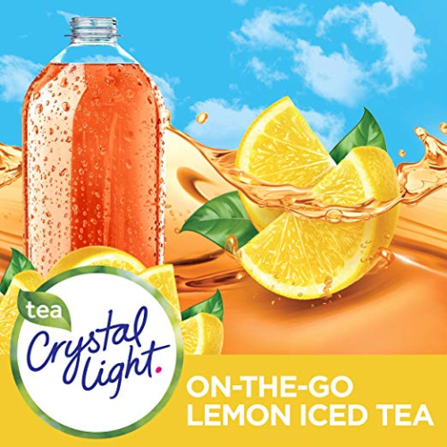 Details About Crystal Light Lemon Iced Tea Drink Mix Made W Black Tea 2pack Lot Of 20 Packets With Images Iced Tea Drinks Drinking Tea Iced Tea