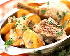 Poulet sauté à l'ail et au potiron (facile, rapide) - Une recette CuisineAZ