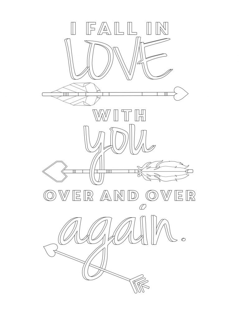 Valentine's Day Coloring Page Downloadable Free adult