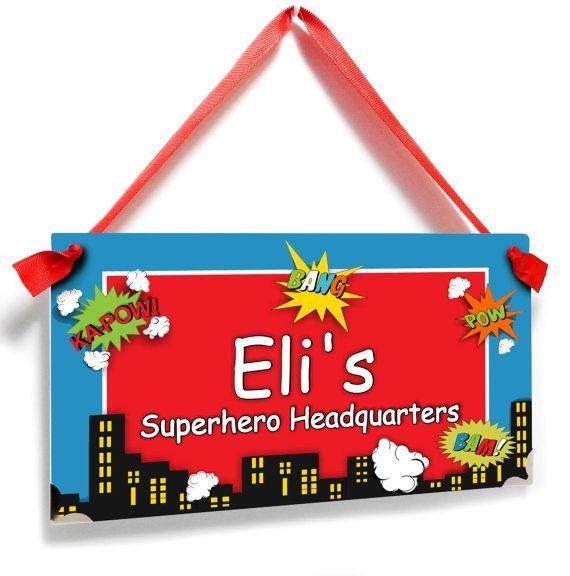 Super Hero Bedroom Brothers Bedroom Door Sign Boys Hideout Etsy Bedroom Door Signs Nursery Art Decor Bedroom Door Decorations