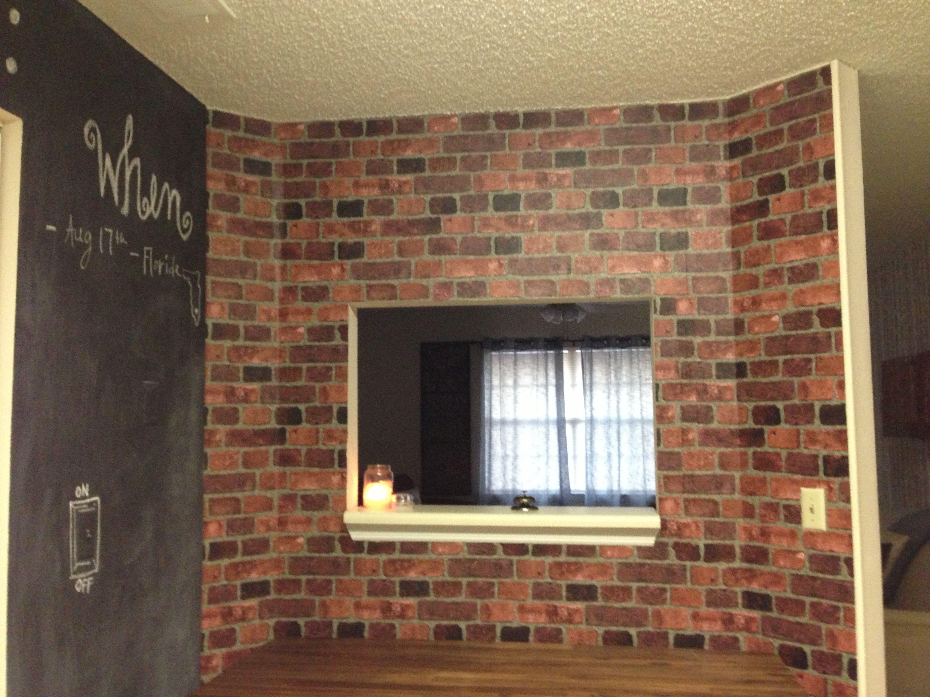 amusing industrial kitchen brick wall   Faux Brick wall   Industrial loft Kitchen Makeover Edition ...