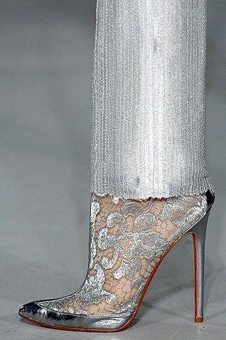 silver lace shoes