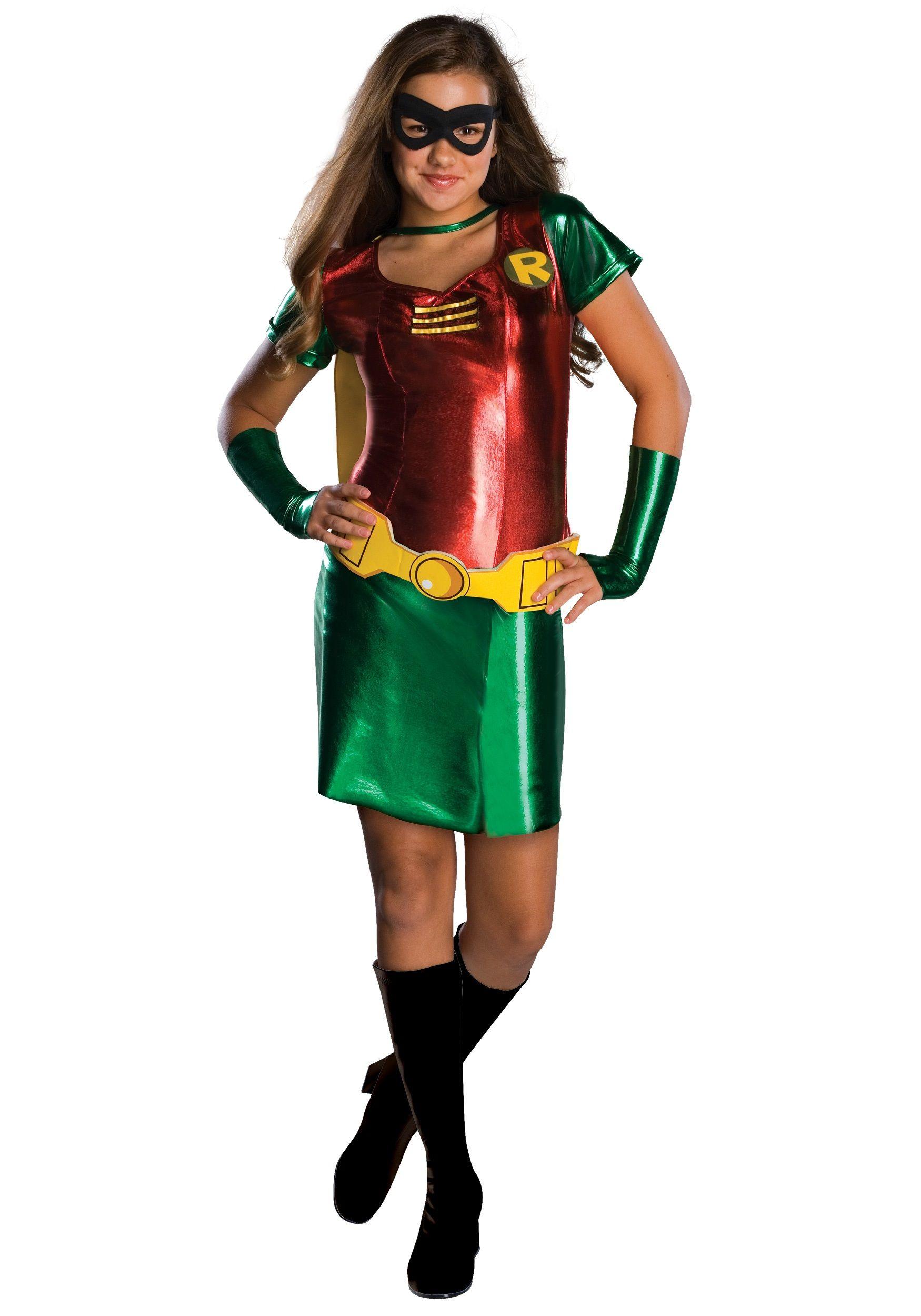Tween Girls Robin Costume | Robin: girl instead of gay | Pinterest ...