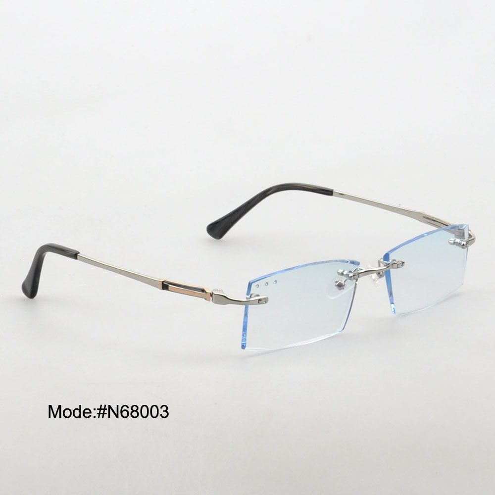 N68003 rimless trimming glasses fast delivery optical metal frame ...
