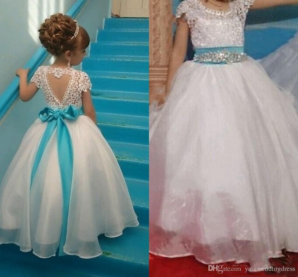 Cheap White Little Girls Flower Girls Dresses For Wedding Lace ...