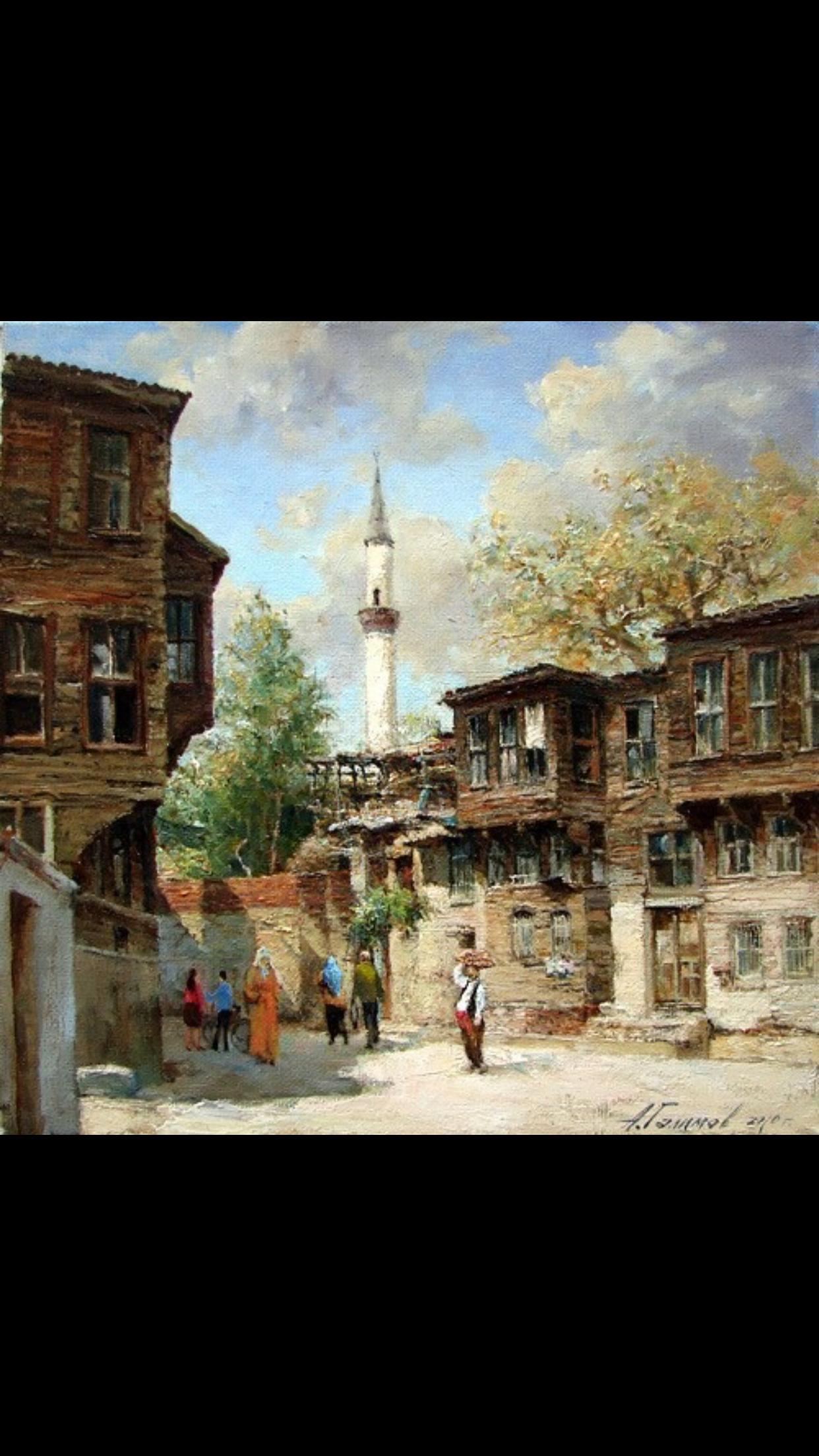Pin von Ümran Özen Gerçeker auf yağlı boya (sokak ve ev tabloları ...