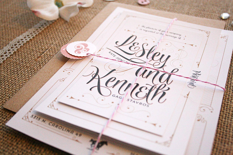 Romantic Rustic Wedding Invitations Kentucky Derby Horses