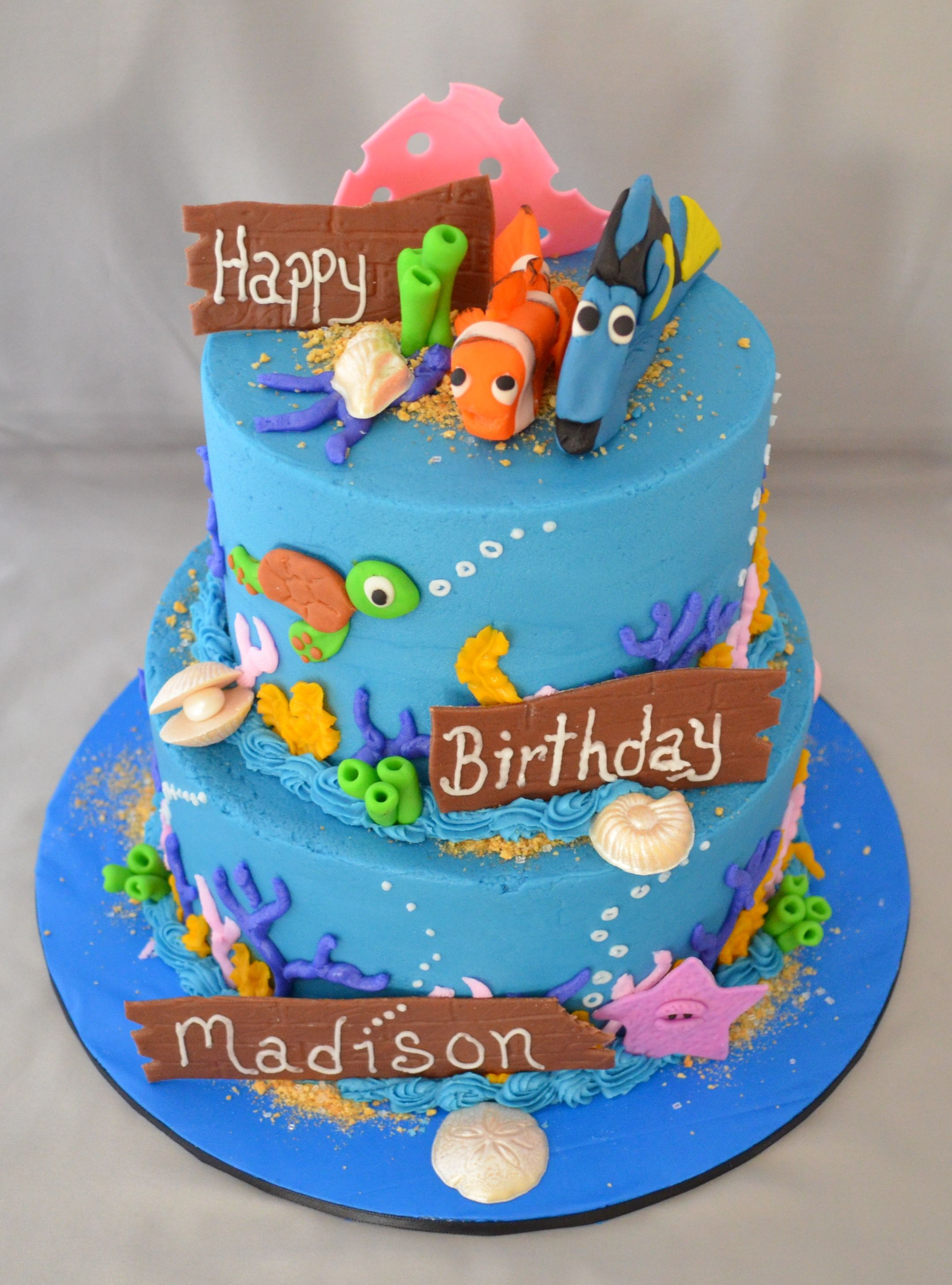 Cool Finding Nemo Birthday Cakes Finding Nemo Nemo Cake Cool Personalised Birthday Cards Cominlily Jamesorg